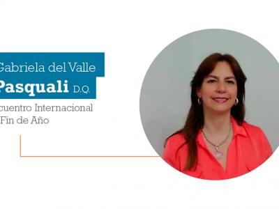 Gabriela del Valle Pasquali D.Q., en el Encuentro Internacional de Fin de Año